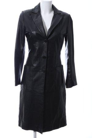Zara Basic Manteau en cuir noir style d'affaires