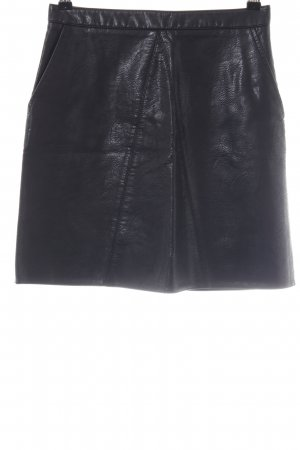 Zara Basic Leather Skirt black casual look