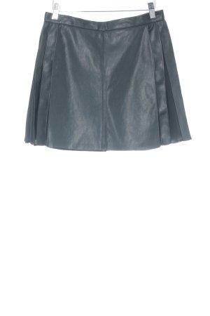 Zara Basic Leren rok zwart casual uitstraling