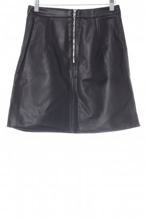 Zara Basic Lederrock schwarz Party-Look