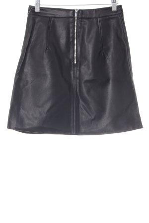Zara Basic Falda de cuero negro estilo fiesta