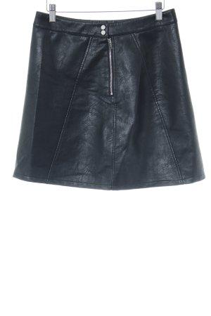 Zara Basic Falda de cuero negro look Street-Style