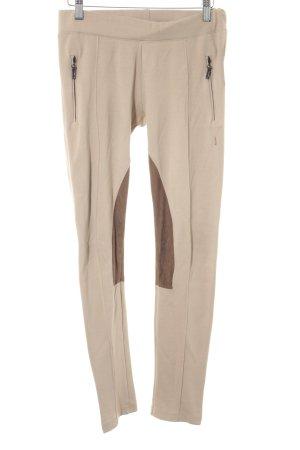 Zara Basic Leggings beige-bronzefarben Casual-Look