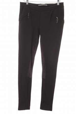Zara Basic Leggings dunkelbraun Casual-Look