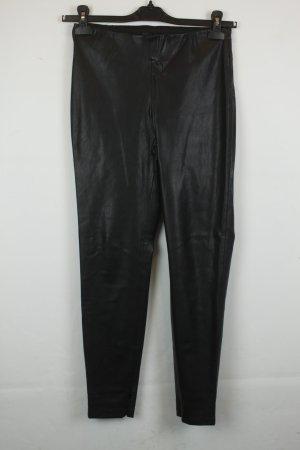 Zara Basic Leggings Gr. M schwarz Lederoptik
