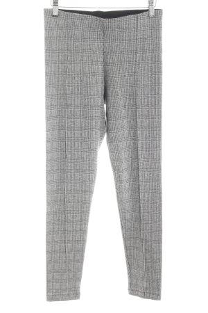 Zara Basic Leggings hellgrau-schwarz abstraktes Muster Casual-Look