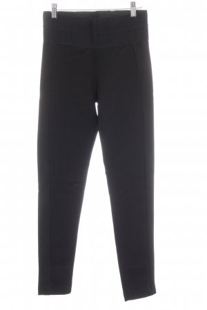 Zara Basic Leggings schwarz Streifenmuster Casual-Look