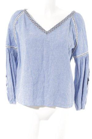 Zara Basic Blusa de lino estampado étnico look Boho
