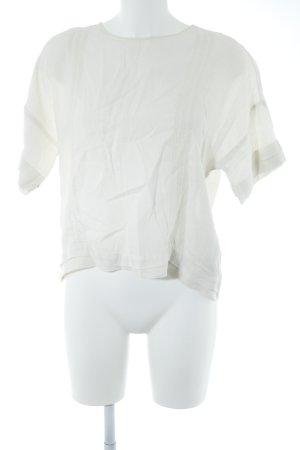 Zara Basic Blouse en lin blanc cassé style décontracté