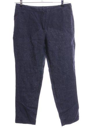 Zara Basic Linen Pants blue casual look