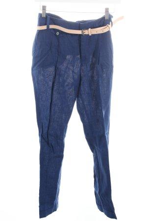 Zara Basic Leinenhose dunkelblau klassischer Stil