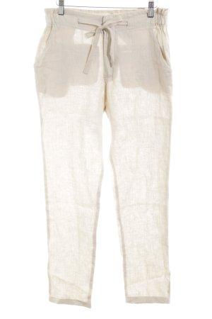 Zara Basic Pantalón de lino beige claro look casual
