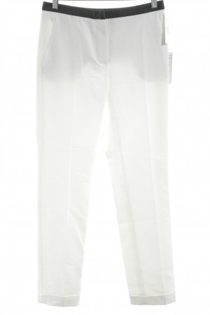 Zara Basic Linnen broek wit-zwart colour blocking casual uitstraling