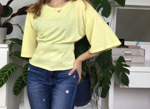 Zara Basic lockeres Shirt mit elastischem Bund S/36