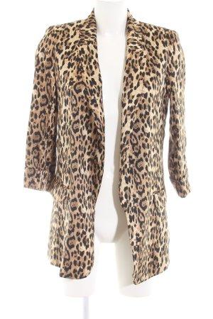 Zara Basic Long-Blazer Animalmuster extravaganter Stil