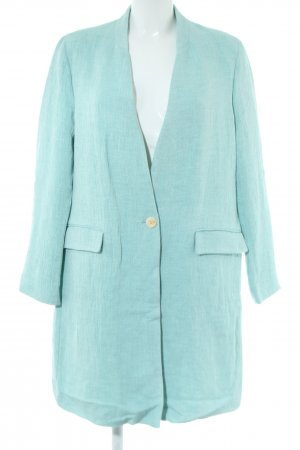 Zara Basic Long-Blazer türkis Casual-Look