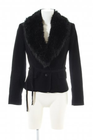 Zara Basic Blazer largo negro look casual