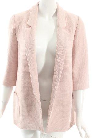 Zara Basic Long-Blazer altrosa-weiß Eleganz-Look