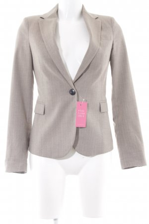 Zara Basic Long-Blazer beige-grau meliert Business-Look