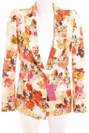 Zara Basic Long-Blazer Blumenmuster Elegant