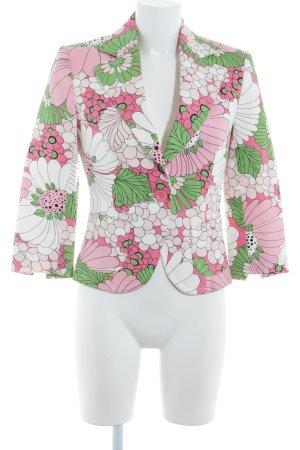 Zara Basic Long-Blazer Blumenmuster extravaganter Stil
