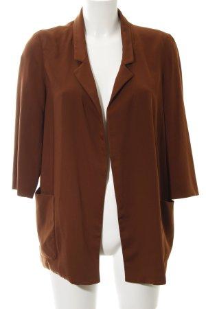 Zara Basic Long-Blazer braun schlichter Stil