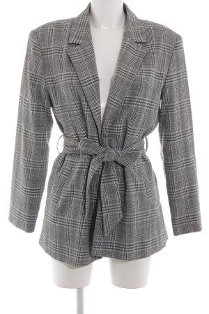 Zara Basic Long-Blazer Karomuster Business-Look