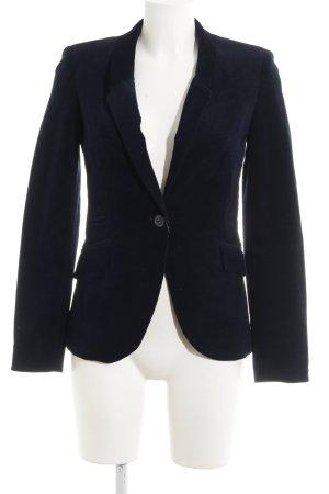 Zara Basic Long-Blazer dunkelblau-braun klassischer Stil