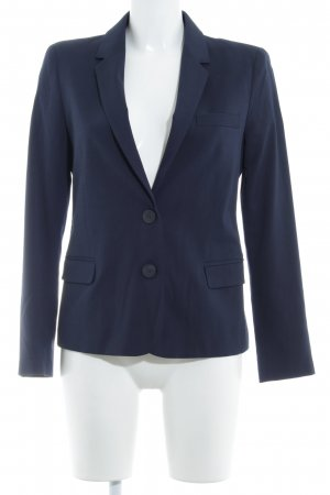 Zara Basic Long-Blazer dunkelblau Business-Look