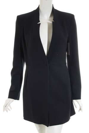 Zara Basic Long-Blazer dunkelblau Casual-Look