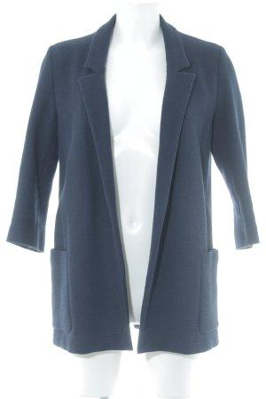 Zara Basic Lange blazer donkerblauw elegant