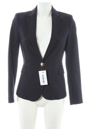 Zara Basic Long-Blazer dunkelblau Elegant