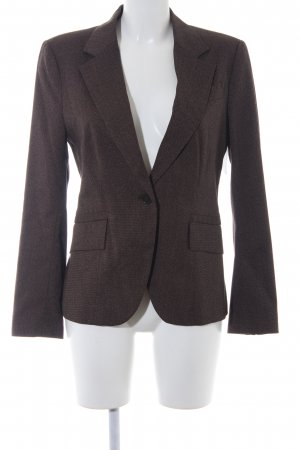 Zara Basic Long-Blazer dunkelbraun-hellbraun meliert Business-Look