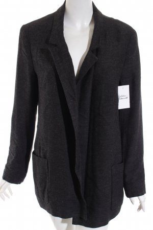 Zara Basic Long-Blazer dunkelgrau Casual-Look