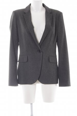 Zara Basic Long-Blazer dunkelgrau meliert Business-Look