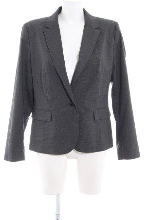 Zara Basic Long-Blazer dunkelgrau-schwarz Karomuster Business-Look