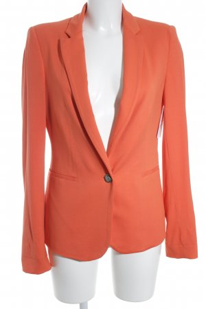 Zara Basic Blazer largo naranja oscuro estilo «business»
