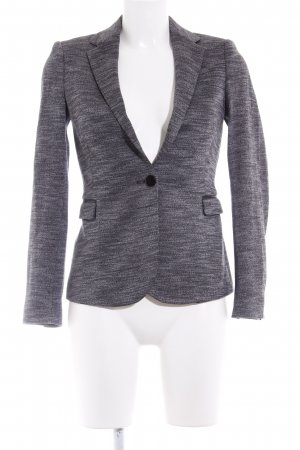 Zara Basic Long-Blazer grau-weiß meliert Business-Look