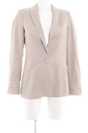 Zara Basic Long-Blazer graubraun Business-Look