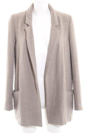 Zara Basic Long-Blazer graubraun Casual-Look