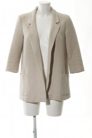 Zara Basic Long-Blazer hellbeige Business-Look