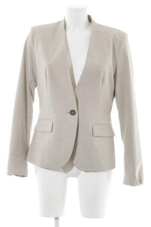 Zara Basic Long-Blazer hellbeige klassischer Stil