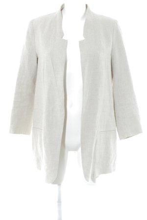 Zara Basic Long-Blazer hellbeige schlichter Stil