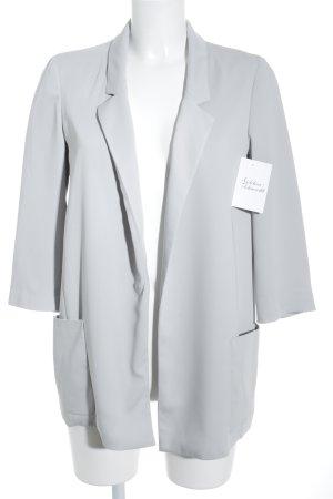 Zara Basic Long-Blazer hellgrau Elegant