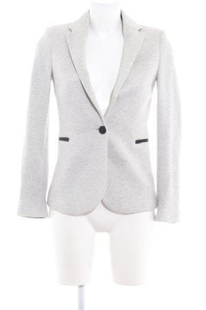 Zara Basic Long-Blazer hellgrau-schwarz Elegant