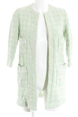 Zara Basic Long-Blazer hellgrün-weiß Elegant
