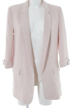 Zara Basic Long-Blazer hellrosa Business-Look