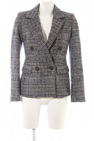 Zara Basic Long-Blazer Karomuster Casual-Look