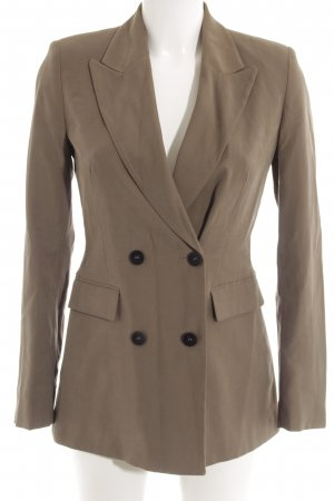 Zara Basic Long-Blazer khaki Casual-Look