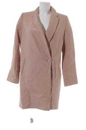 Zara Basic Long-Blazer nude Casual-Look